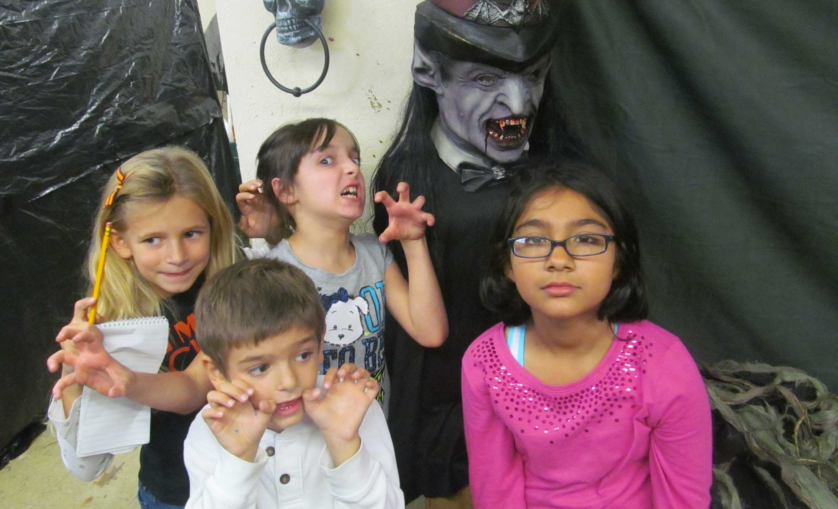 Cunniff Kids News reporters got a sneak peek of the haunted house being built in the Cunniff basement. The annual Cunniff Halloween party will be Friday, Oct. 24, from 6:30-8 p.m.