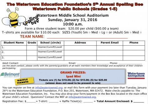 Sign up for the Spelling Bee!