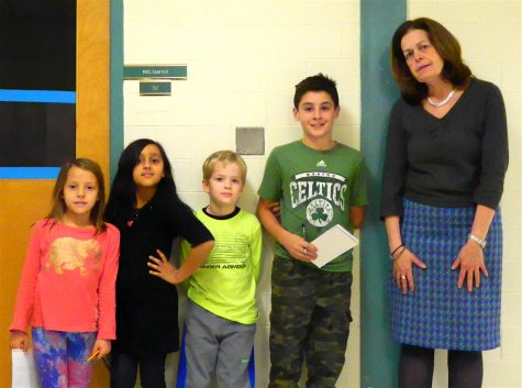 Cunniff Kids News reporters interviewed 18 staff members -- including principal Mena Ciarlone (right) -- at Cunniff Elementary School in Watertown, Mass., in search of people's favorite food at Thanksgiving.