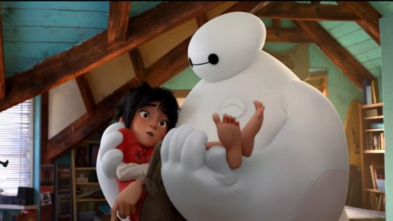 Hiro (left) and Baymax, stars of Disney's new film,