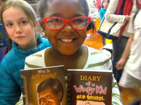 Books by and about Jeff Kinney have been popular with students this week at the Scholastic book fair at Cunniff Elementary School.