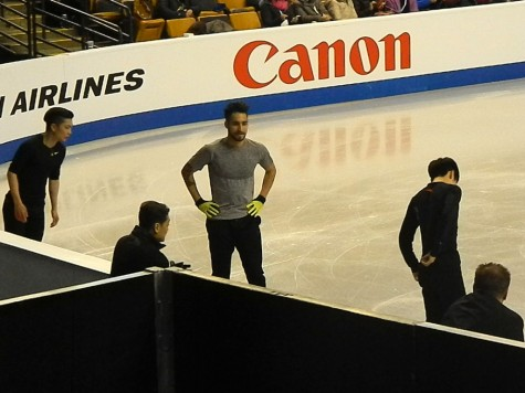 Male competitors take to the TD Garden ice on Monday, March 28, for the first day of practice for the 2016 World Figure Skating Championships.