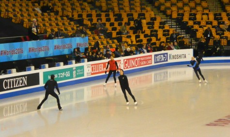 Competitors take to the TD Garden ice on Monday, March 28, for the first day of practice for the 2016 World Figure Skating Championships.