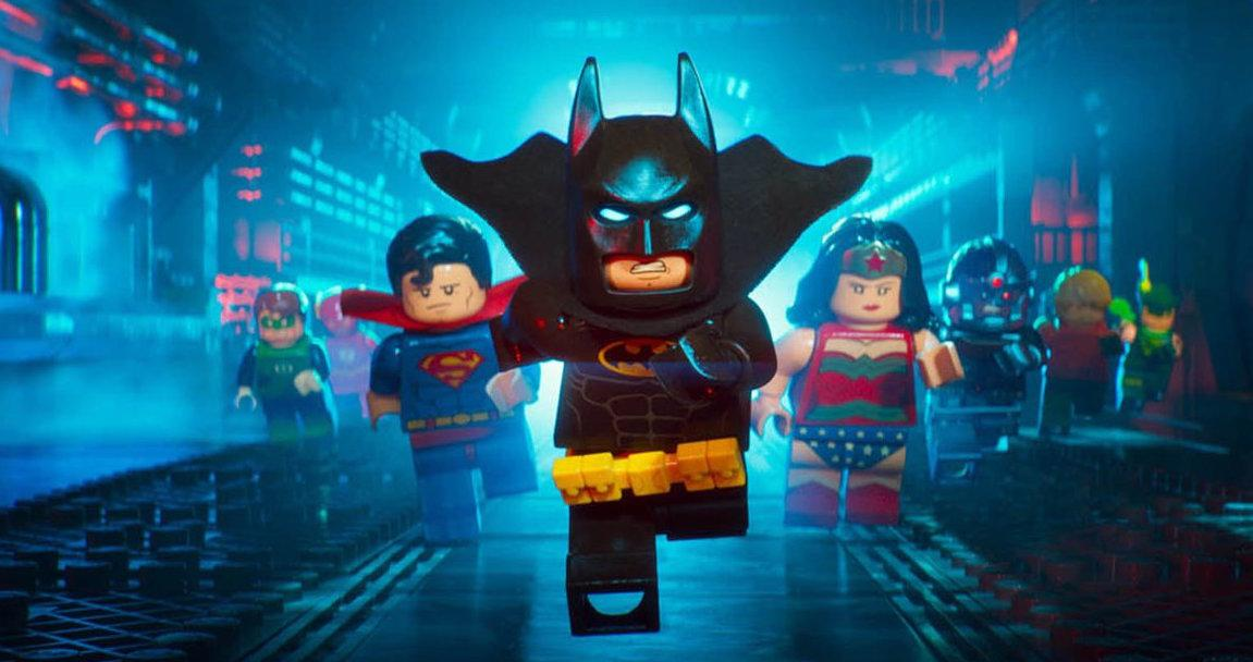 Batman (voiced by Will Arnett) gets a lot of help in