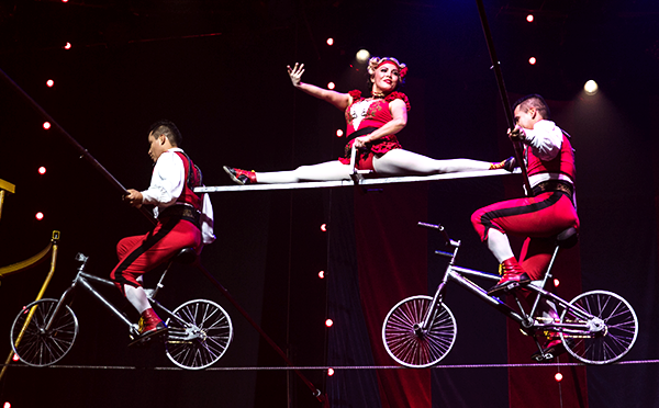 High-wire acts are just part of the fun of Circus 1903 at Boch Centers Wang Theatre in Boston through March 12, 2017.