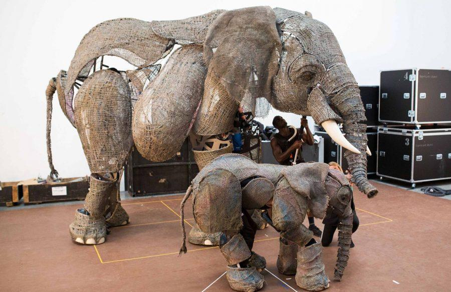 The elephant puppets are just one part of the extraordinary