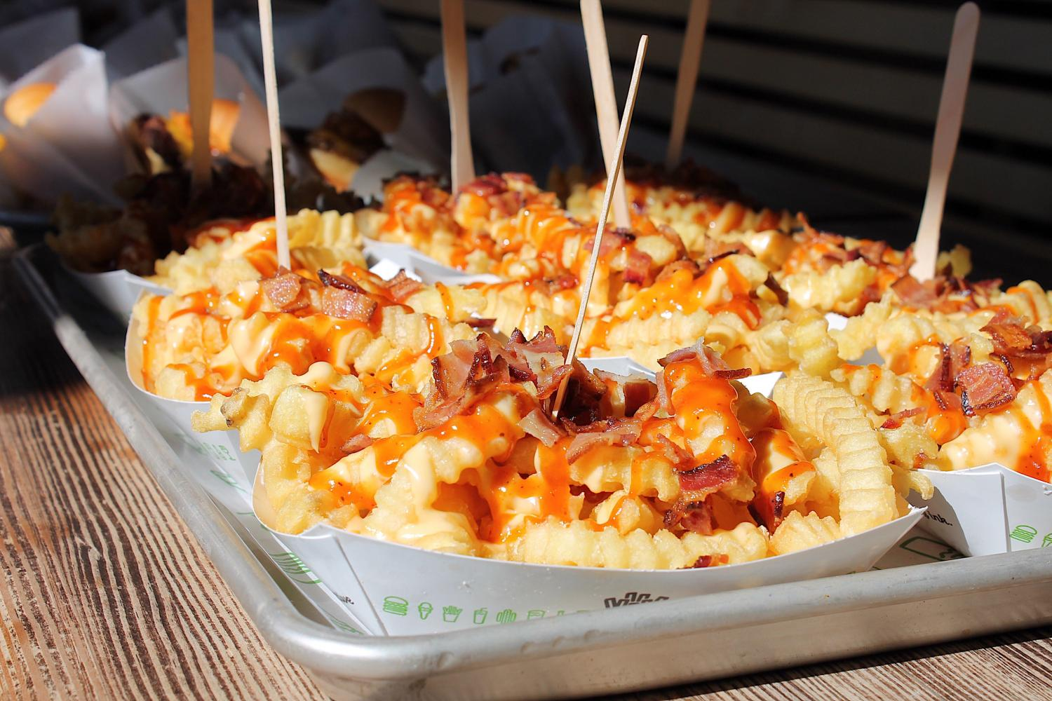 The BBQ Bacon Cheese Fries at Shake Shack is one of the menu items featured for a limited time.