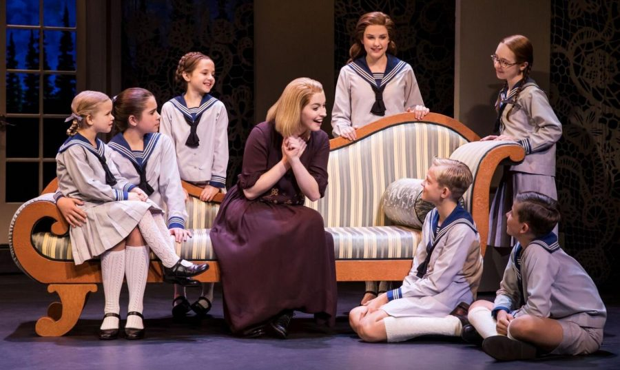 Jill-Christine Wiley plays Maria (center) in the national touring company of