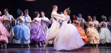 "The Prince (Lukas James Miller) and Cinderella (Kaitlyn Mayse) dance in ""Rodgers and Hammerstein's Cinderella,"" which is playing at the Emerson Colonial Theatre through Dec. 30, 2018."