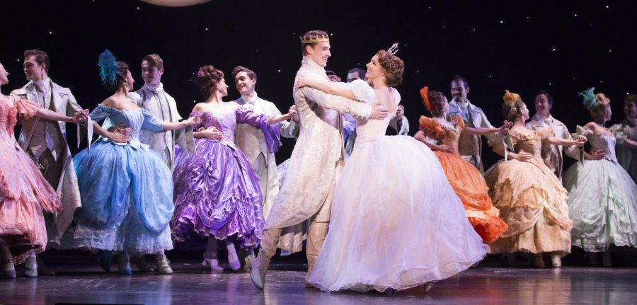 The Prince (Lukas James Miller) and Cinderella (Kaitlyn Mayse) dance in
