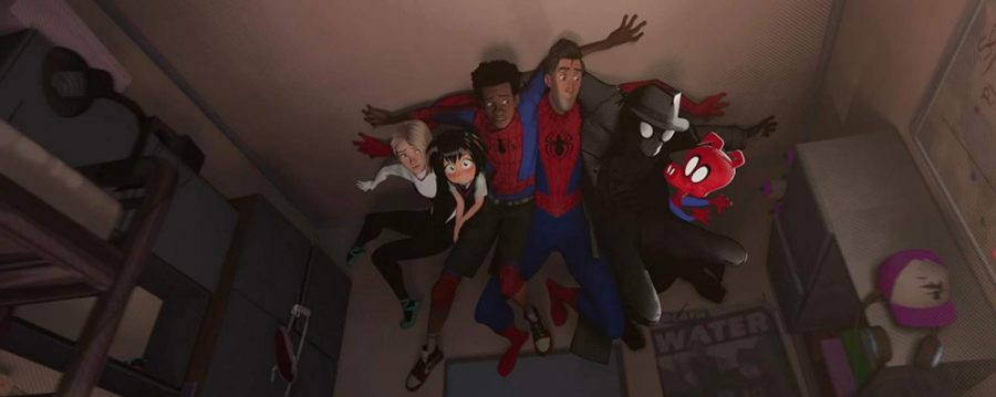 """There are many people acting like Spider-Man in """"Spider-Man: Into the Spider-Verse"""","""