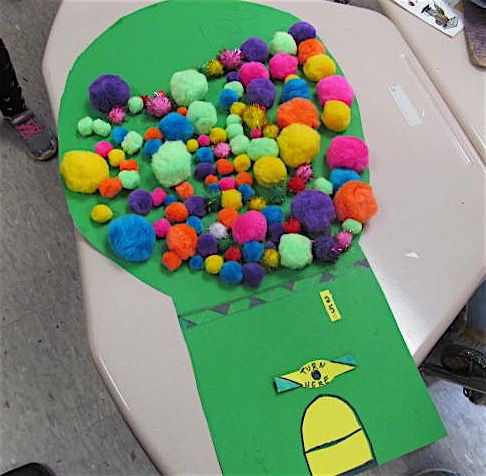 A project by a student at Cunniff Elementary School in Watertown, Mass.,  celebrates the 100th day of the school year, Feb. 7, 2019.
