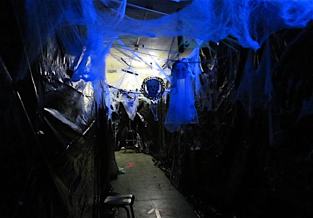 The entrance to the Haunted House, which will be open Friday, Oct. 25, 2019, at Cunniff Elementary School starting at 6:30 p.m.
